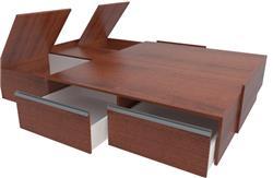 CAMA MADERA TABLES BOX 6423 CAOBA 1.40/1.60